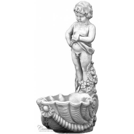 Chłopiec stojący nad muszlą - donica