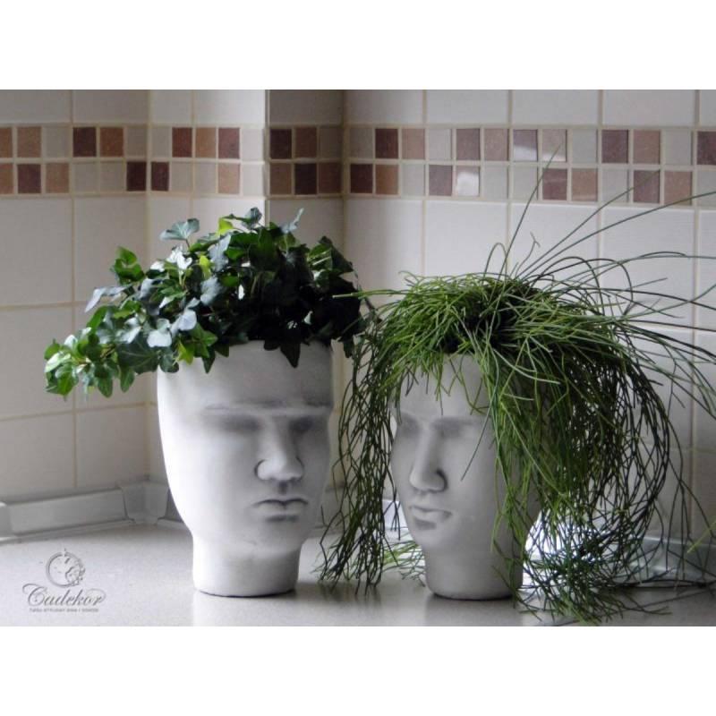 Donice Ogrodowe Głowa Mężczyzny Nietypowa Ozdoba Kwiatów