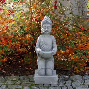 Rzeźba Klęczący Budda z miską
