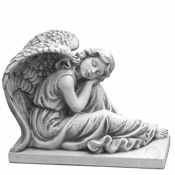 Figura Anioła Pochylony Anioł Dekoracje Do Domu I Ogrodu