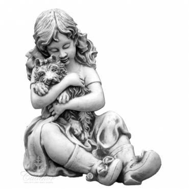 Figurka Dziewczynka z yorkiem