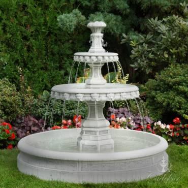 Fontanna piętrowa z basenem mała ogrodowa
