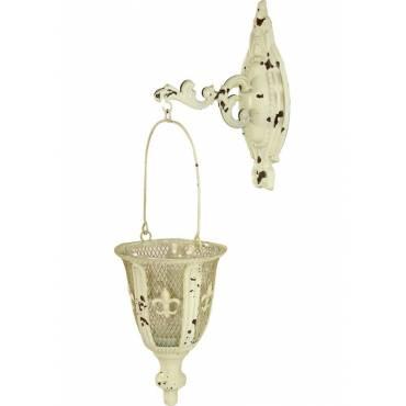 Metalowy świecznik na ścianę – postarzany