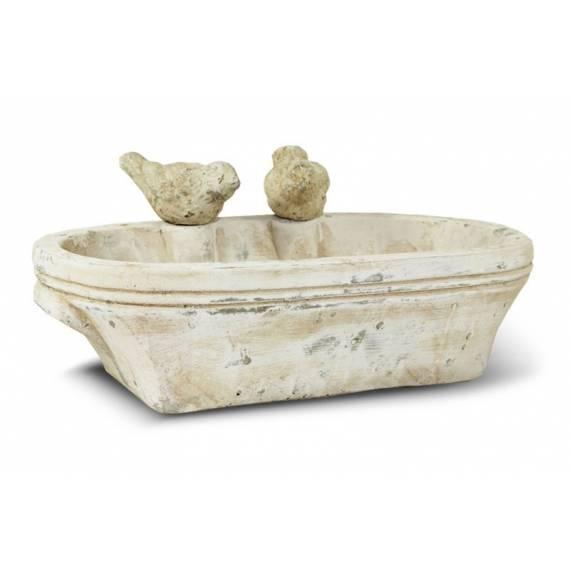 Poidełko dla ptaków z ceramiki – owalne