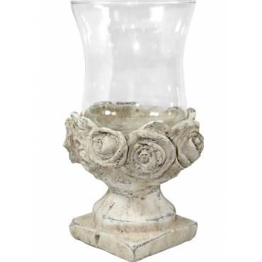 Świecznik ceramiczny – róże