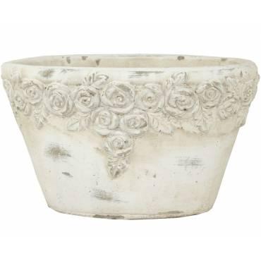 Osłonka ceramiczna róże - mała