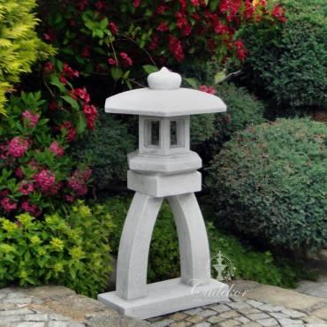 Lampa ogrodowa okrągła wysoka