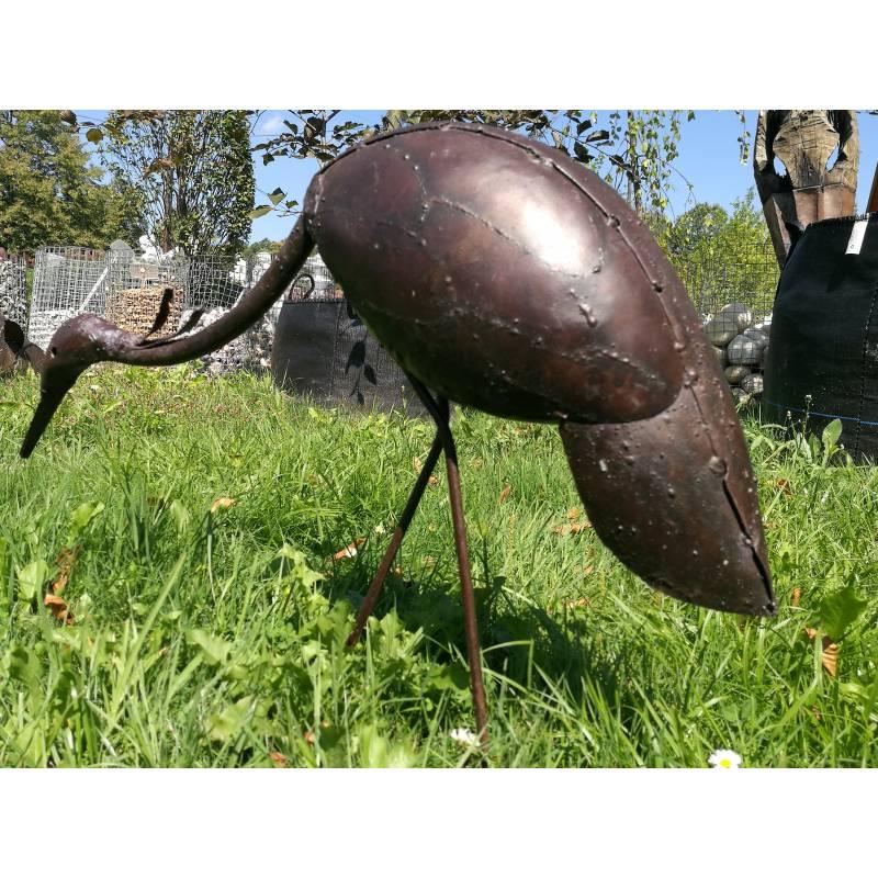 Czapla Ozdoba Do Ogrodu Z Metalu Ptaki Dekoracyjne Ręcznie