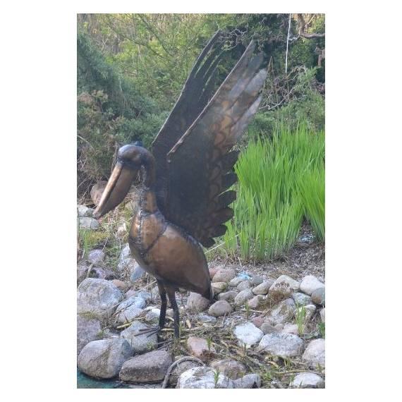 Pelikan do ogrodu metal