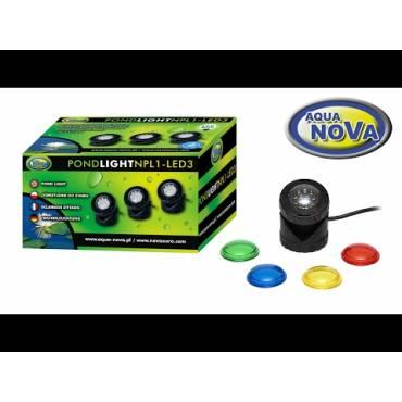 AQUA NOVA NPL1-LED3 oświetlenie fontanny /oczka / stawu LED