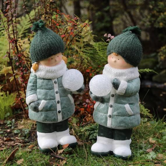 Para dziewczynka i chłopiec ze śnieżką 50 cm – komplet