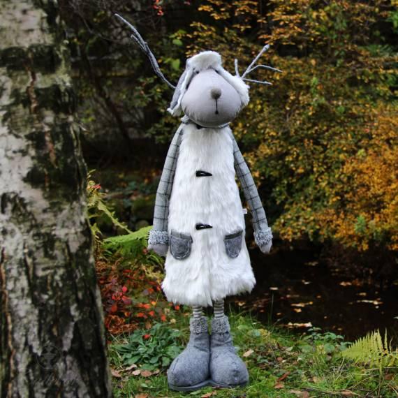 Renifer stojący z rogami 84 cm