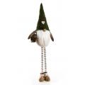 Mikołaj stojący z serduszkiem 60 cm
