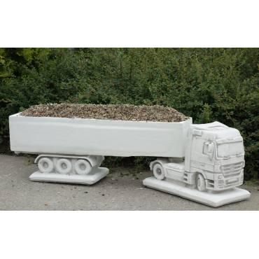 Ciężarówka z przyczepą (zestaw ciągnik i donica)