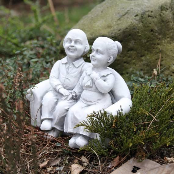 Komplet - Babcia i Dziadek na ławce