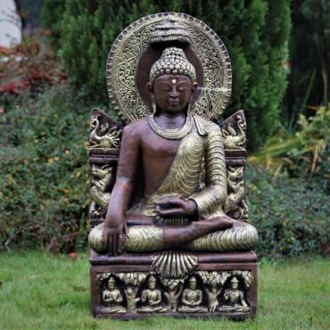 Złoty Buddy Phra Phuttha w Wat na tronie 94 cm