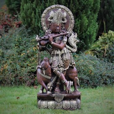Krishna grający na flecie 94 cm