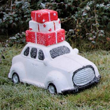 Samochód z prezentami mały 27 cm