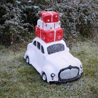 Samochód świątecznymi prezentami 34 cm