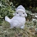 Świąteczny ptak siedzący - figura ceramiczna