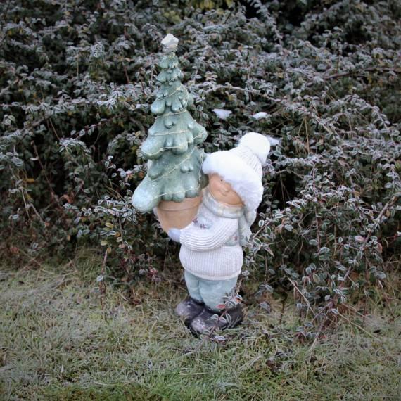 Dziewczynka trzymająca choinkę 61 cm