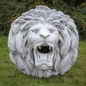 Płaskorzeźba Duży lew z grzywą