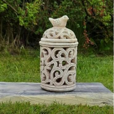 Latarenka ceramiczna z ptaszkiem 29cm