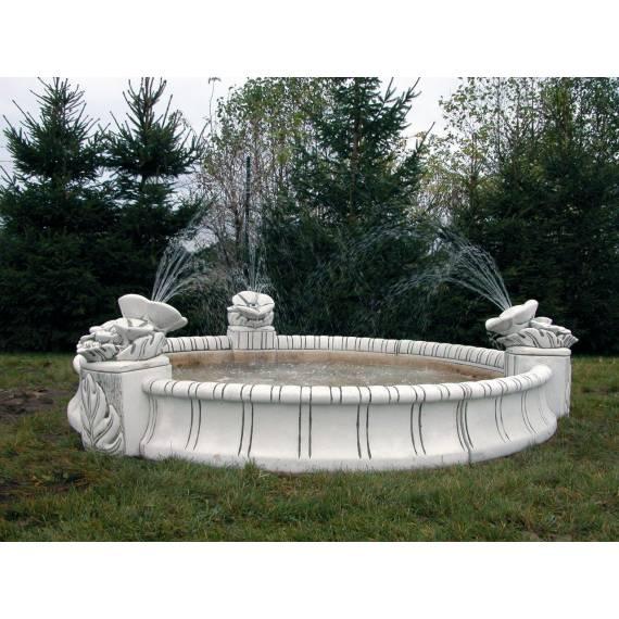 Basen okrągły / Oczko fontannowe z natryskami280 cm