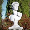 David bust on the pedestal