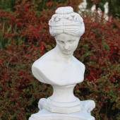 The bust of Aphrodite on the pedestal