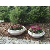 Smooth garden pot 60 cm