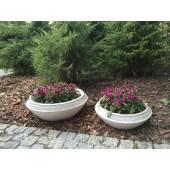 Smooth garden pot 60 cm