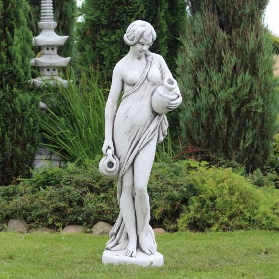 Woman with two jugs - overflow figure