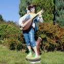 Bard z mandoliną - malowany