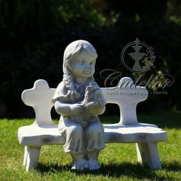 Figurka ogrodowa Dziewczynka z pieskiem
